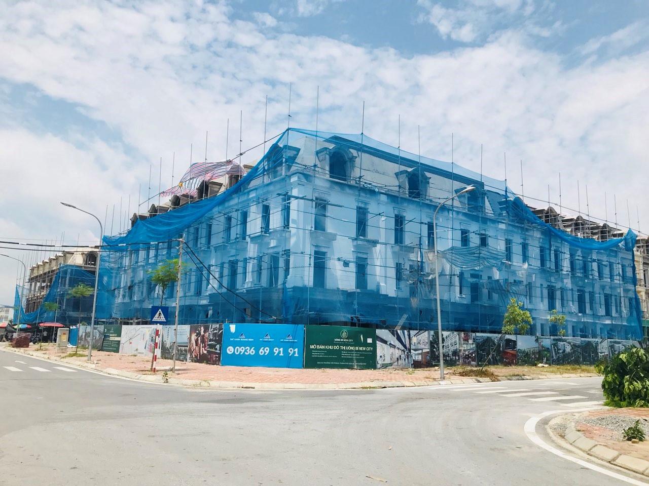 Tiến độ xây dựng Shophouse Uông Bí New City.
