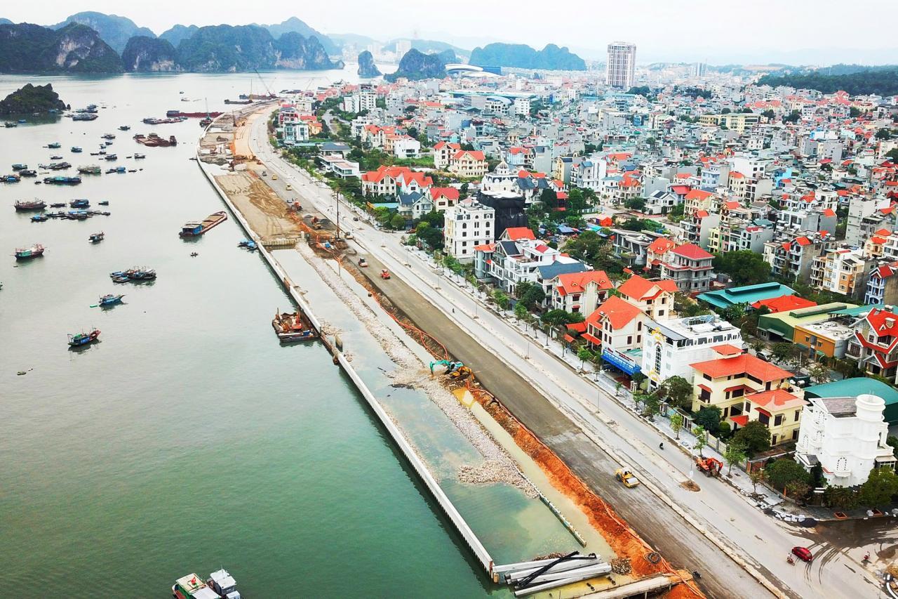 Dự án đường bao biển Trần Quốc Nghiễn đang được khẩn trương thi công, dự kiến hoàn thành vào tháng 4/2020.