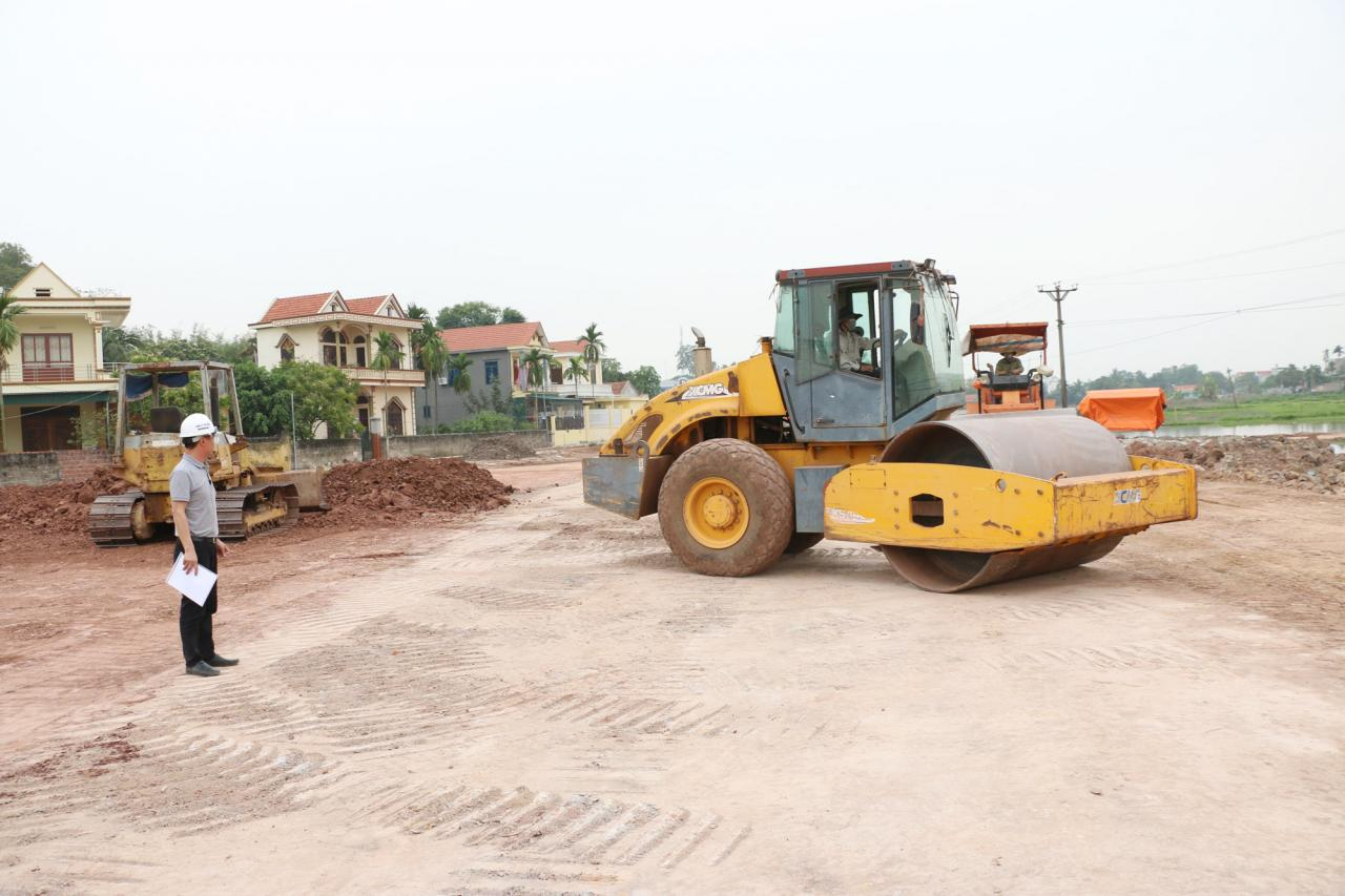 Dự án tuyến đường nối tỉnh lộ 331B và tỉnh lộ 338 tổng mức đầu tư hơn 261 tỷ dồng đang được Quảng Yên đẩy nhanh tiến độ