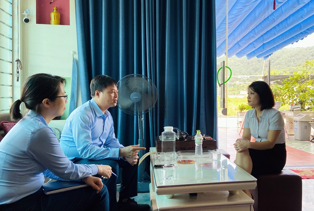 Cán bộ ngân hàng Vietinbank Quảng Ninh đến trực tiếp khách sạn TomTit Hotel (phường Hùng Thắng, TP Hạ Long) để nắm bắt khó khăn và tư vấn