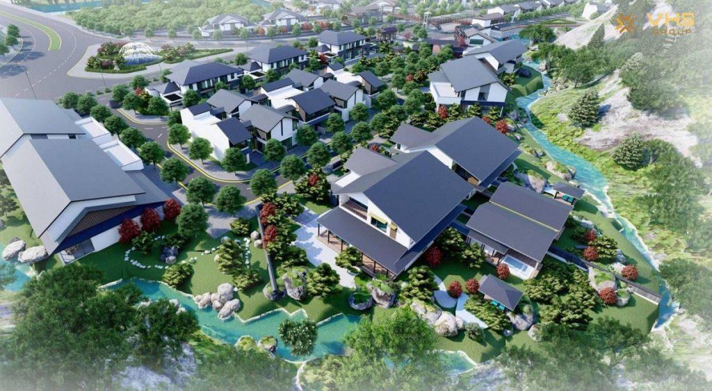 Phối cảnh 2 dự án Sun Quang Hanh Yoko Onsen Villa