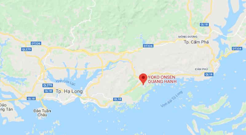 Vị trí Yoko Onsen Quang Hanh Sungroup Quảng Ninh